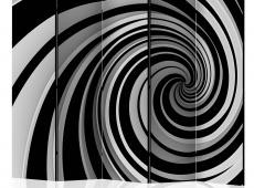 Paraván - Black and white swirl II [Room Dividers]